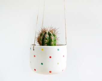 Ceramic hanging planter for succulent, Ceramic hanging plant pot, Ceramics and pottery, Pottery hanging planter, Cacti planter, Viruset
