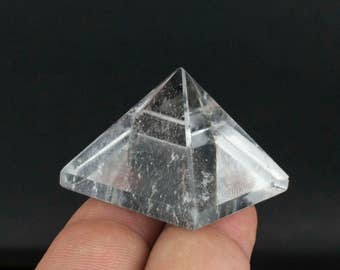 Clear Crystal Quartz Pyramid