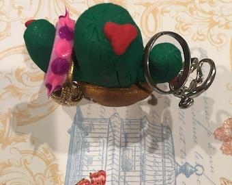 Cute Cactus Ring Holder
