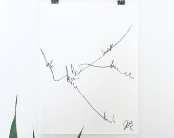 "Minimal art, abstract art, black and white art, line drawing, abstract landscape, minimal landscape art, 18""x24"" art"