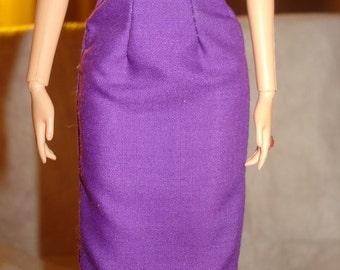 Fashion Doll Coordinates - Grape purple a-line skirt - es218/es242