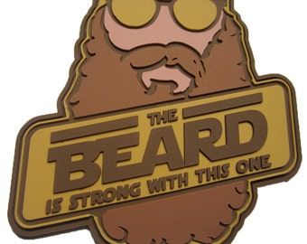 The Beard Is Strong - PVC Morale Patch