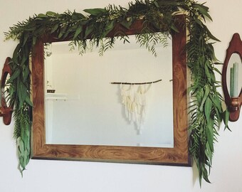 Fresh garland, living garland, eucalyptus, wedding decor, wedding arch