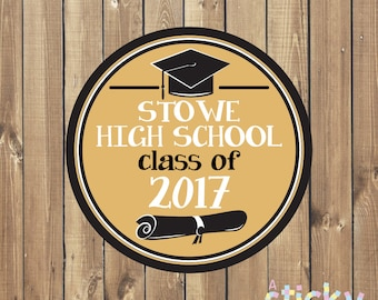 Personalized Graduation Stickers, Graduation Stickers, Graduation Labels, School Stickers, Teacher Stickers, Teacher Gift, Custom Stickers
