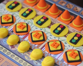 Construction-Themed Fondant Cupcake Toppers - Perfect for Cupcakes, Cookies and Other Edibles