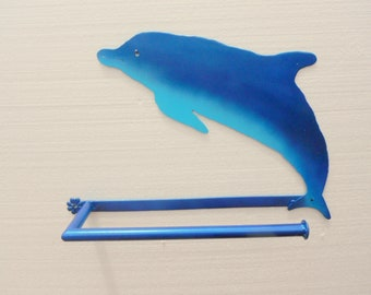 Dolphin wall mount paper towel holder