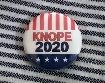 """Knope 2020 1"""" Button or Magnet Parks and Rec"""
