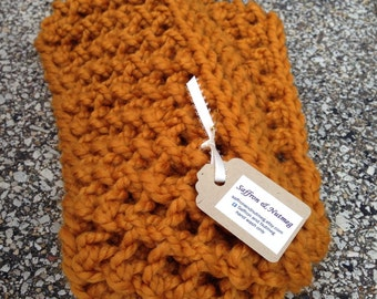 Chunky Scarf, Infinity Scarf /The Poppy Long / Butterscotch Mustard