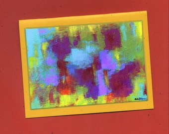 Untitled Number 407 Abstract Art Note Card
