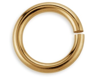 10 Pcs 5 mm 20ga 14K Gold Filled Open Jump Rings (GF20GOJR05)