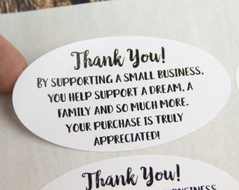Thank you for Supporting a Small Business - Thank You Stickers - Thank You Labels - Happy Mail - 21 Pieces - Handmade Business - Packaging