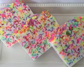 Fruit Loops Type Soap - Glycerin soap - soap for kids - Sweet soap - confetti soap