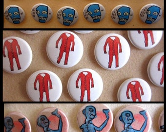 """pack of three 1"""" buttons - series 2"""