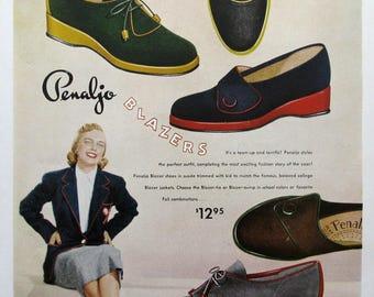 1951 Penaljo Blazers Shoe Ad - 1950s Women's Fashion Advertising