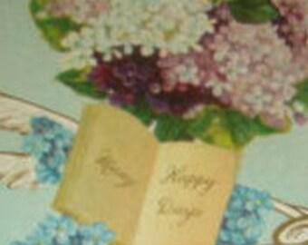 Nice Vintage Floral Postcard (Forget-me-nots)