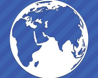 Planet Earth World Globe Vinyl Decal Sticker
