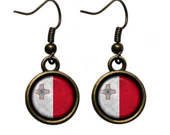 Malta Maltese Flag Earrings