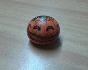 Halloween Pumpkin painted stone