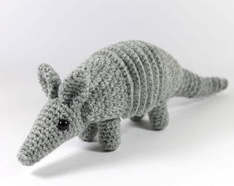 Nine-banded armadillo crocheted toy