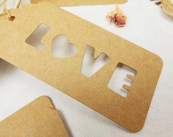 Love Tags, 25 Swing Tags, Rustic Wedding, Kraft Gift Tags, Wedding Decoration, Romantic Wedding, Love Wording