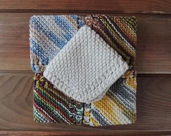 Knit Cotton Dishcloths - set of 3