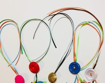 Multi-Ribbon and Button Bookmark