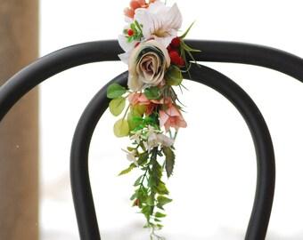 White flower crown Woodland wedding Floral hair wreath Floral headband Boho floral crown Wedding halo Bridal headpiece Maternity photo