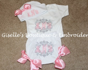 Monogram Baby Girl Set