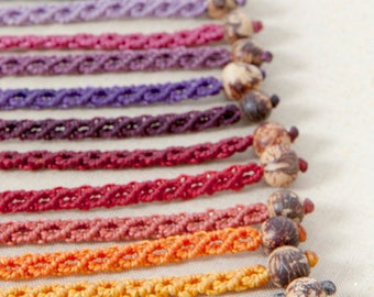 Macrame bracelet, handmade jewelry, choose your color, micro macrame, friendship bracelet