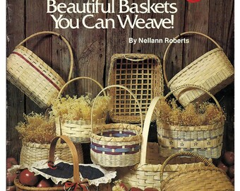 Basic Basket Weaving by Nellann Roberts Craft Pattern Book Plaid 7726