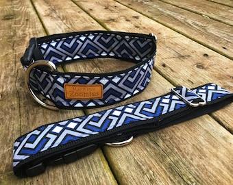 Blue Diamonds Dog Collar, Maritime, PEI,
