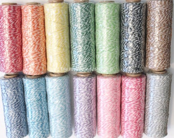 Bakers Twine, Craft Twine, Scrapbook Twine, Packages, Crafts, 100 Yards 4 Ply, Bright Divine Colors, Wedding, Baby Shower, Birthday Favors