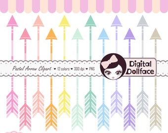 Pastel Arrow Clipart, Graphics, Aztec Tribal Clip Art, Digital Images