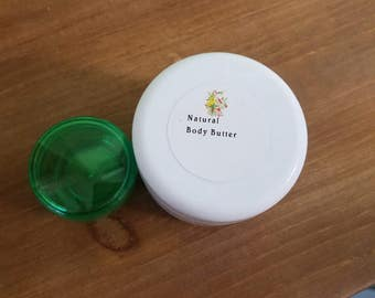 Natural Unscented Body Butter Large 4 oz Plus Free filled Personal size