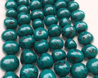 Pambil turqoise beads for jewerly 30 u in a 17 in strands. Natural beads amazonia  beads jewerly making ecofriendly