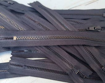 """6"""" YKK Black Zippers, Black Zipper, Ykk Zipper"""