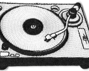 Turntable Record Player Embroidered Patch Iron On Applique