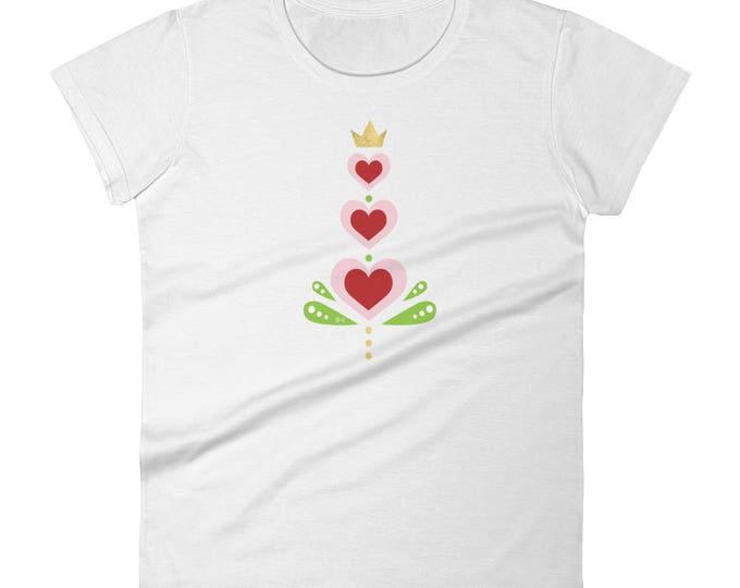 Women's Heart short sleeve t-shirt, Hearts Shirt