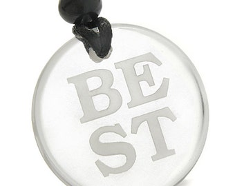 Amulet Powers to Stay the BEST in the World Magic Powers Crystal Quartz Pendant Necklace