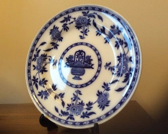 Mintons Delft Vintage Blue and White Plate