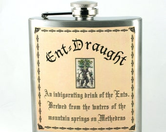 Lord of the Rings flask Ent-Draught. Unique gift Hobbit