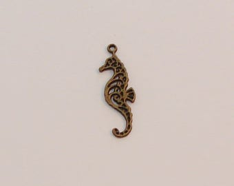 Ref: BB 219-3 seahorse charms bronze