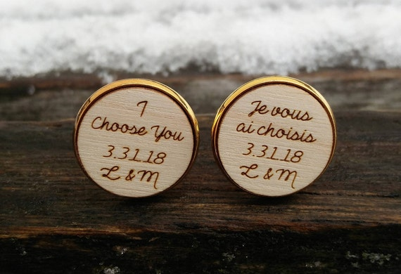 Personalized Cufflinks. Wedding, Groom Gift, Anniversary, Birthday, Groomsmen, Father's Day. Silver, Gold, Rose Gold, Gunmetal.
