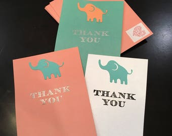 Embossed Handmade Thank You Cards