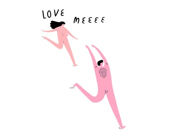 Love Meeee - Greeting Card