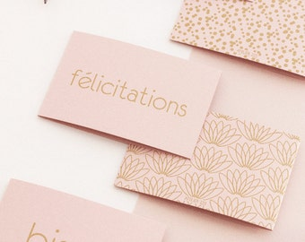 1 mini card + envelope - 1 small card + envelope