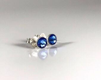 Atlantic Blue Sterling Silver Earrings