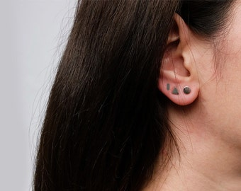 geometric earrings, geometric jewelry, triangle earrings, minimalist earrings, silver earrings, minimalist jewelry, triangle earring