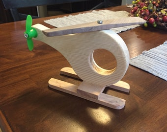 Wooden Helicopter Multi-Media