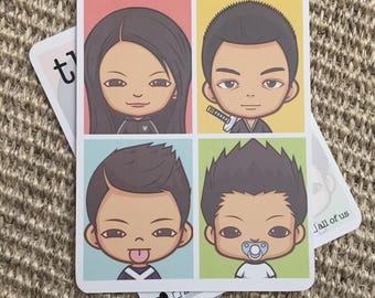 Family Avatar Multipurpose Greeting Postcards - Congrats...